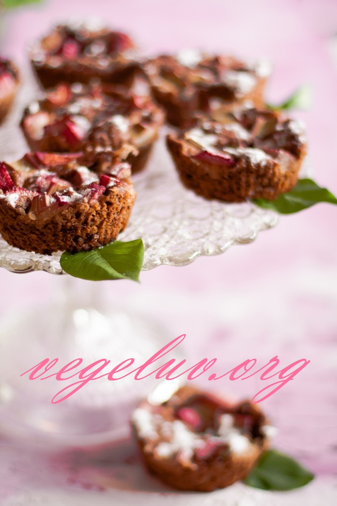Vegeluv Muffiny Rabarbarowe